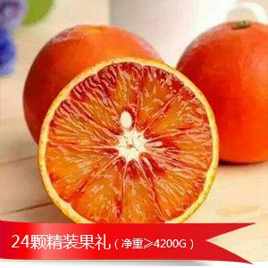 24颗精品塔罗科血橙果礼